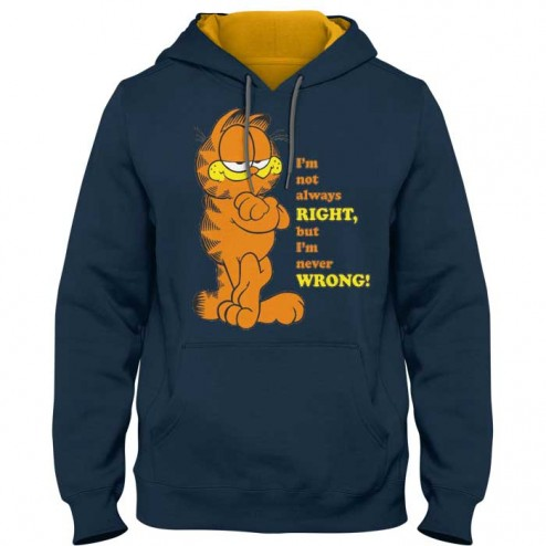 garfield never wrong kontrast hoodica