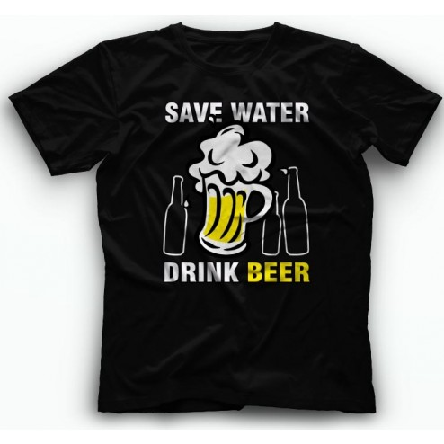 Save Water Drink Beer Majica kratki rukav